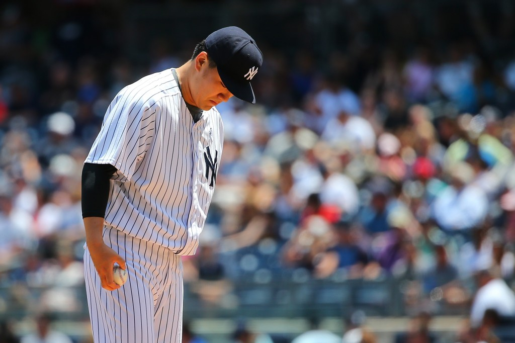 at Yankee Stadium on June 21, 2015 in the Bronx borough of New York City.