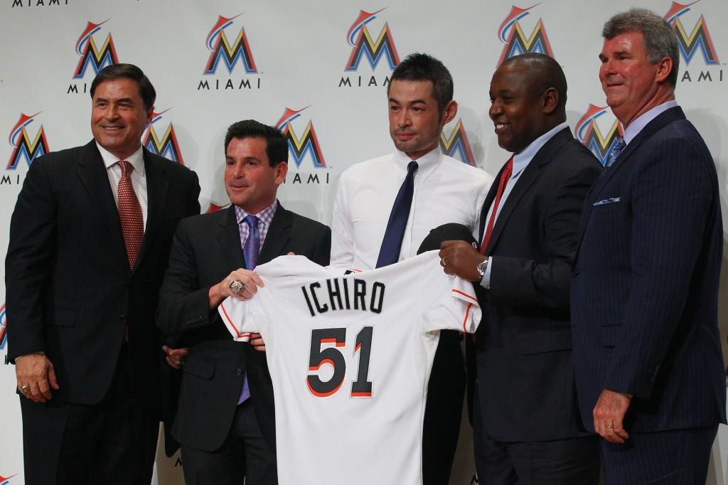 Marlins Signs Ichiro Suzuki - Press Conference In Tokyo