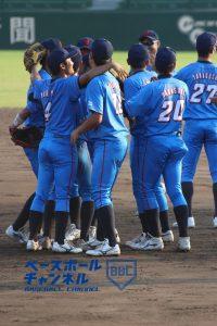 優勝したNTT西日本