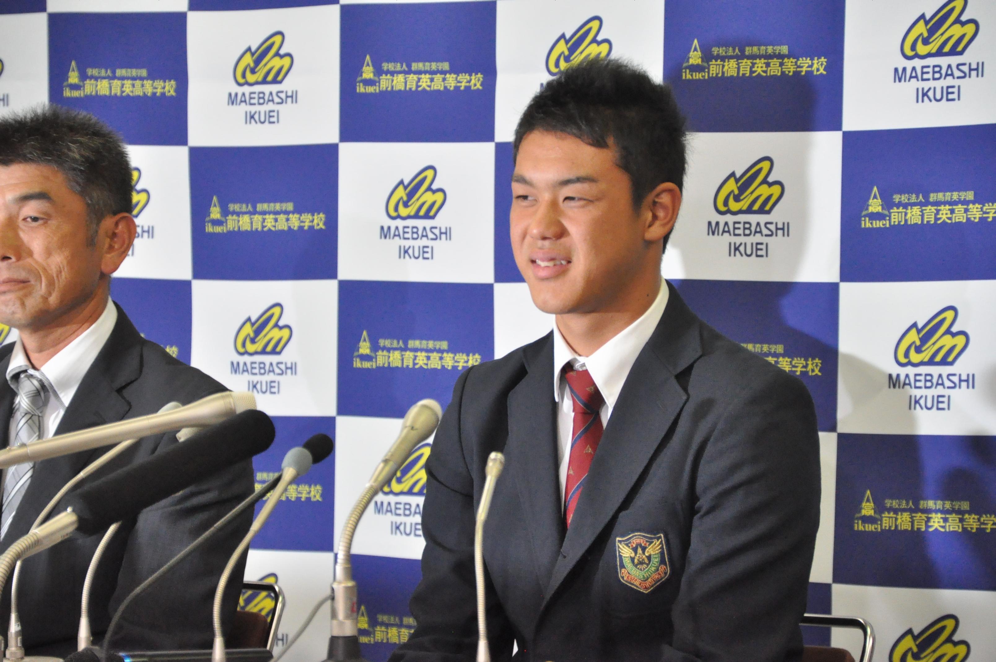 埼玉西武ライオンズは、2014年新人選手選択会議(ドラフト会議)の1巡目に前橋育英高の高橋光成選手を単独指名
