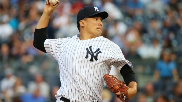 at Yankee Stadium on June 9, 2015 in the Bronx borough of New York City.
