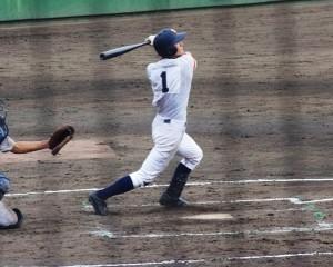 最後の打者となったエースの宮崎